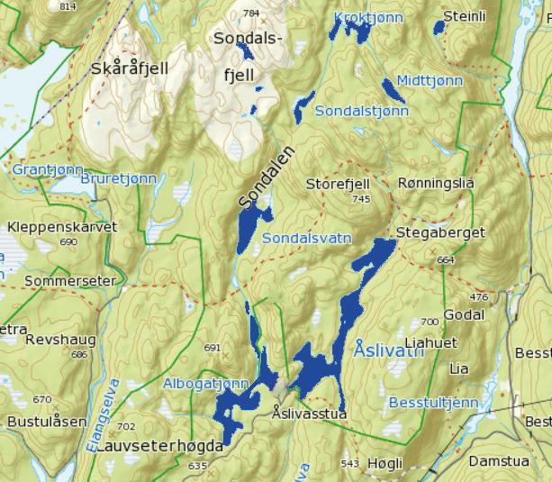 kart over luksefjell Grenland Sportsfiskere kart over luksefjell
